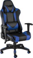 Tectake - Bureaustoel Twink zwart / blauw - 403208