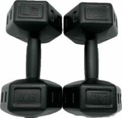 ECG Spor 2x Dumbells - 5 kg - Dumbells Set - Zwart - Gewichten - Gewichten Set - Gewichten 5 Kg - Gewichten Fitness - Dumbells 5 Kg