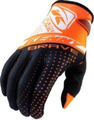 Oranje Kenny Brave glove neon orange MTB / BMX handschoenen - Maat:8
