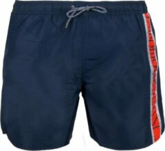 Marineblauwe Emporio Armani Beachwear Zwembroek - Maat 52 Volwassenen - navy/wit