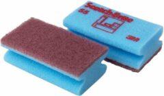 Scotch Brite schuurspons voor delicate oppervlakken, ft 7 x 13 cm, blauw, pak met 10 stuks