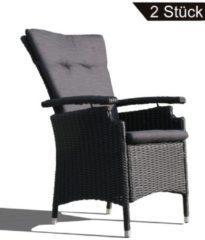 2 Rattan Sessel Relaxsessel Gartenstühle Schwarz Famous Home Schwarz