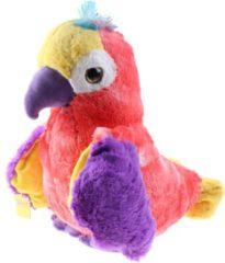 Sunkid papegaai Big Eye junior 43 cm pluche roze/paars/geel