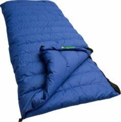 Blauwe LOWLAND OUTDOOR® Donzen slaapzak - Katoen - 220 x 200 cm - 2350 gr - +0°C
