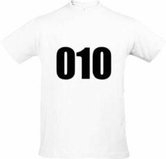 Witte Bc Feyenoord - Rotterdam - Voetbal - 010 B&C Unisex T-shirt Maat M