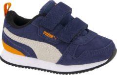 Marineblauwe Puma Sneakers - Maat 24 - Unisex - navy,oranje,grijs