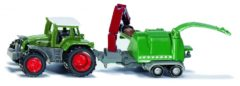 Groene Siku Fendt Favorit 926 tractor met Jenz hakselaar groen (1675)
