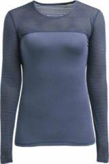 Blauwe Röhnisch Rohnisch Miko Long Sleeve Dames Sportshirt - Dusty Blue - Maat XS