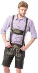 Zwarte Tannhauser Boeren Tirol & Oktoberfest Kostuum | Lederhose Heinz Herfstbok Kort Man | Maat 54 | Bierfeest | Verkleedkleding