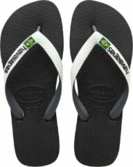 Witte Havaianas Brasil Mix Slippers Unisex - Black/White - Maat 35/36