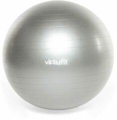 Swiss ball - VirtuFit Anti-Burst Fitnessbal Pro - Gym Ball - met Pomp - Grijs - 85 cm