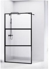 Douchewand Van Rijn ST04 Helder Glas 8 mm Aluminium Profiel Zwart 90x200 cm