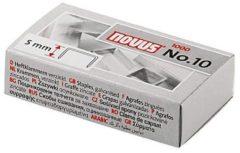 Zilveren Novus No. 10 Super 040-0003 Nietjes 1 Pack 1.000 Stuks/Pak Heftcapaciteit: 20 Vel (80 G/M²)