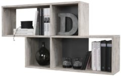 FD Furniture Wandrek Lendy 100 cm breed zand eiken met antraciet