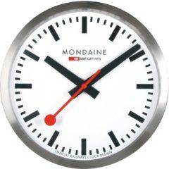 Paarse Mondaine Wall Clock A995.CLOCK.16SBB Klok - Aluminium - Zilverkleurig - Ø400 mm