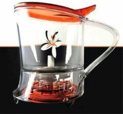 Living with tea Tea maker 2 in 1 - Magisch theefilter Rood - Theepot - Losse thee - Magic tea maker 0,5L