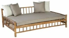 Bruine Persoon Exotan Living Outdoor Persoon Exotan Bamboe lounge daybed bamboo natural finish