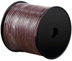 Rode Loudspeaker cable red/black CCA 25 m roll, cable diameter 2 x 0,75 mm?