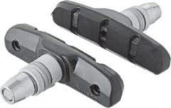 """SHIMANO Y8GP9810A Bremsschuhe """"S65T"""" für V-Brake (BR-M330/420/421/422/T4000), schwarz/silber (1 Paar)"""
