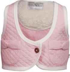Roze Ducky Beau Meisjesgilet - Baby Pink - Maat 56