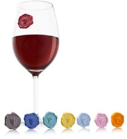 Afbeelding van VacuVin Vacu Vin Glas Markers Classic Grapes