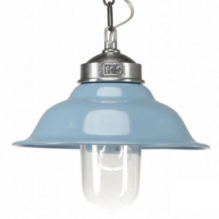 Afbeelding van Blauwe Buiten Hanglamp Porto Fino - Aluminium - Retro Blauw - KS Verlichting