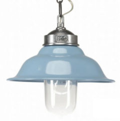 Blauwe Buiten Hanglamp Porto Fino - Aluminium - Retro Blauw - KS Verlichting