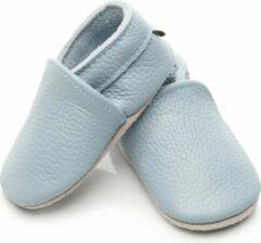 Supercute Leren Baby slofjes - Blauw - 18/24 maanden -Babyschoenen - Jongen - Meisje - Kraamkado - Babyshower