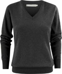 Antraciet-grijze Harvest Trui met V-hals James Harvest Sports Wear Dames Trui Maat XL