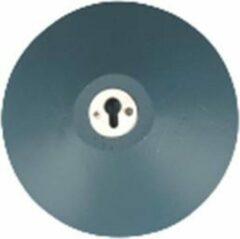 Antraciet-grijze Merkloos / Sans marque Wandhaak LUNA - Blauw - Hout / Metaal - Ø 11,5 x 4 cm - Maat L