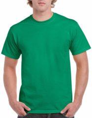 Groene Gildan Groen katoenen shirt voor volwassenen 2XL (44/56)