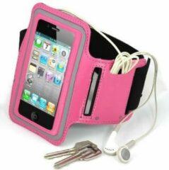 Zwarte Eforyou - huismerk Sportarmband voor iPhone 4/4S & iPod touch 4 - Roze OP=OP