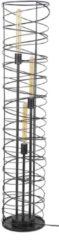 Zaloni Vloerlamp Willy Ø28 van 140 cm hoog in Charcoal