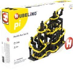 Hubelino knikkerbaan bouwset zwart/geel 246-delig