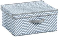 2er-Set Aufbewahrungsboxen mit Deckel, weiß/grau Zeller weiß/grau