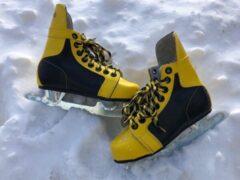 Gele Avento by Nijdam Kinderschaatsen Avento Maat 31 - Schaats - Kinderschaats - ijshockey - ijshockeyschaats