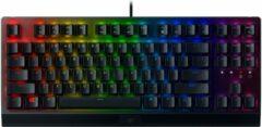 Zwarte Razer BlackWidow V3 Tenkeyless Qwerty Gaming Toetsenbord - Groene Switch