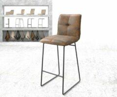 DELIFE Barstoel Maddy-Flex slipframe metaal vintage bruin