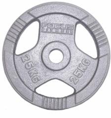 Olympische Halterschijf 50 mm - Focus Fitness Hamerton - 25 kg - Gietijzer