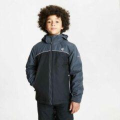 Dare 2b Dare2B Impose waterdichte, geïsoleerde ski-jas met capuchon voor kinderen, ademend polyester, Outdoorjas, zwart ebbenzwart