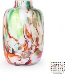 Trendy Design vaas Toronto - Fidrio MIXED COLOURS - Bloemenvaas glas, mondgeblazen - hoogte 15 cm