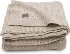 Beige Jollein baby ledikant deken 100x150cm Bliss knit nougat