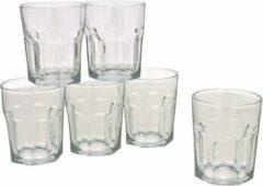 Gerim 12x Stuks waterglazen/drinkglazen transparant 256 ml - Glazen - Drinkglas/waterglas/tumblerglas