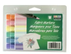 Marvy Uchida Textielstiften Brush Pastel 6 Stuks