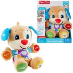 Blauwe Mattel Fisher-Price Leerplezier Eerste Woorden Puppy - Interactieve Knuffel