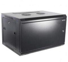 "Alfaco 19-6406M, 6U, 19"" Serverkast/Wandkast met metalen voordeur, (BxDxH) 600x450x368mm, zwart"