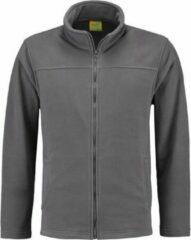 L&S Grijs fleece vest met rits voor volwassenen 2XL (44/56)