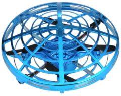 Fliegendes UFO, blau