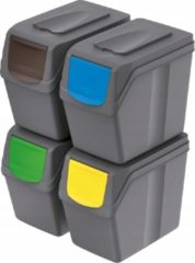 Grijze Prosperplast Sortibox scheidingsbakken set 4x20L ISWB20S4