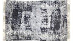 HSM Collection Vloerkleed - katoen - 180x120 cm - naturel/blauw/grijs